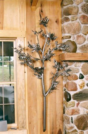 Oak Tree Wall Mount Light Fixture