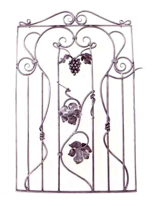 Grape Leaf and Vine Garden Gate