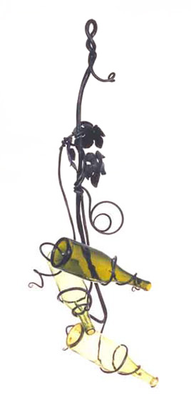Grape Leaf and Vine Wine Rack