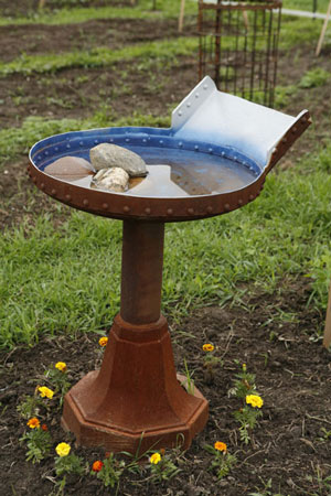 Found Object Bird Bath