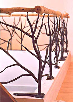 Tree Branch Railing with Willow Cap Rail