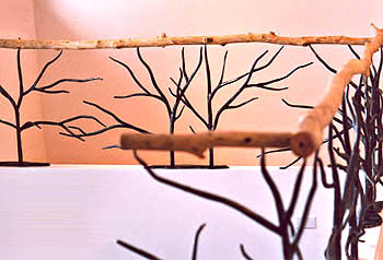 Tree Branch Railing with Willow Cap Rail - Lorelei Sims