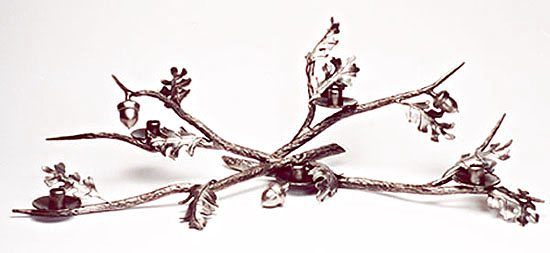 Oak Leaf and Acorn Candelabra