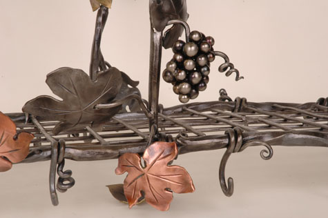 Detail of Tri-Metal Pot Rack