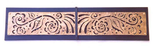 Copper Plasma Cut Vent Cover